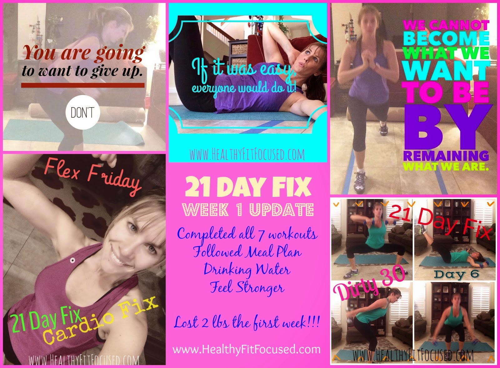 21 Day Fix, week 1 workout update