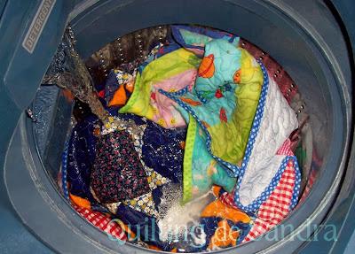 """Quilt """"Estrellas del Sur"""" en la lavadora"""