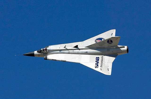 Saab J35 Draken Interceptor Fighter