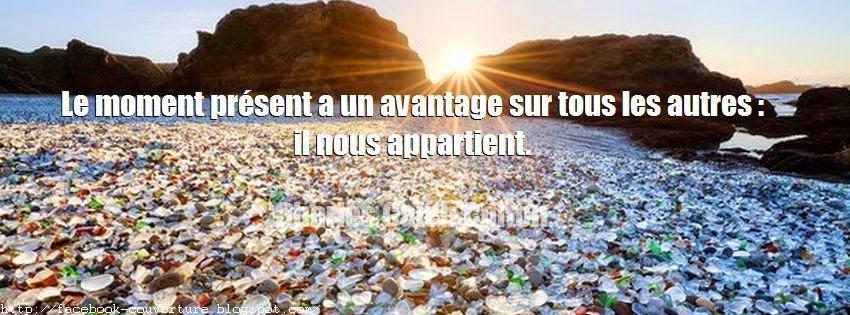 Une belle couverture facebook citation positive