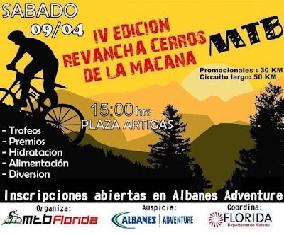 MTB - Revancha de Cerros de la Macana (Florida, 09/abr/2016)