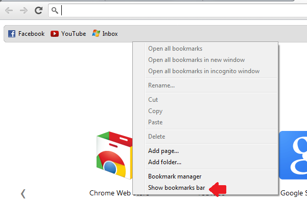 how to add a bookmark in the bookmark bar