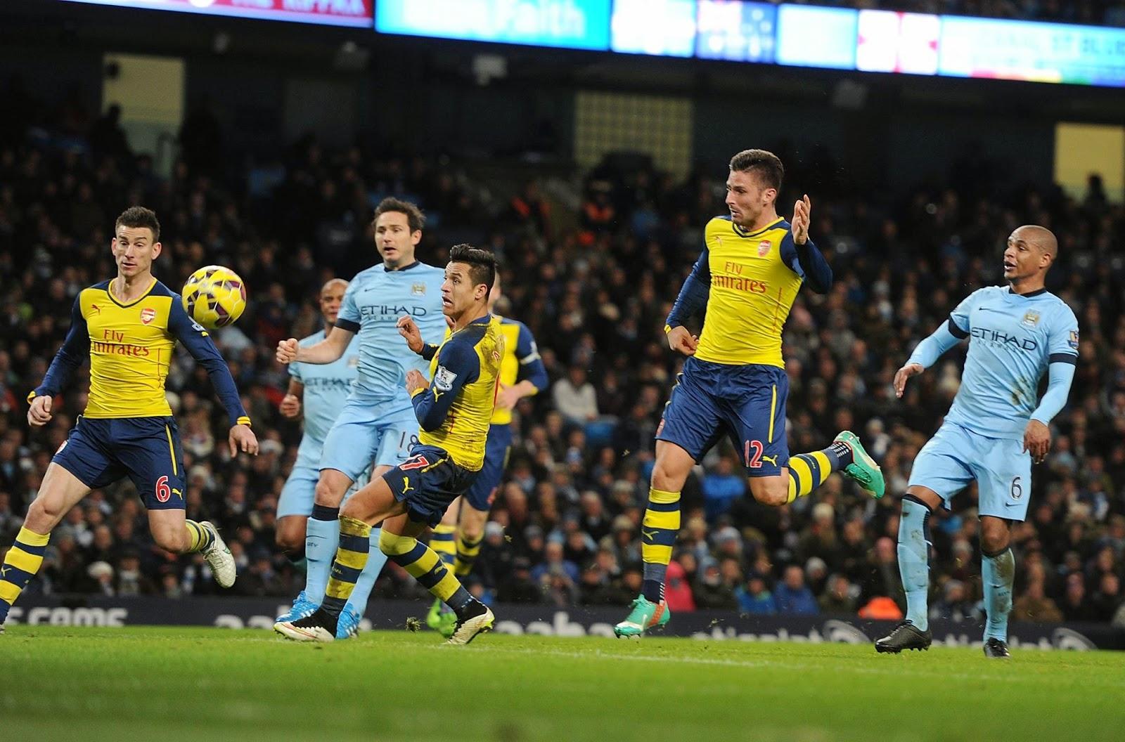 Liga Inggris : Manchester City 0-2 Arsenal
