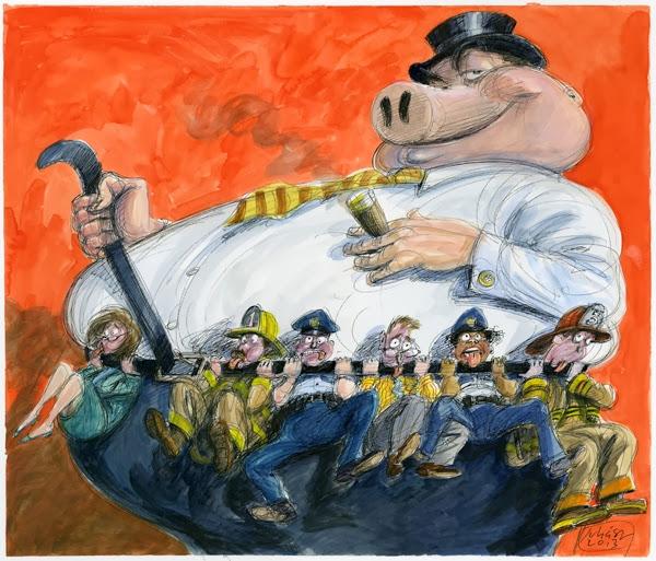 srealing public pensions
