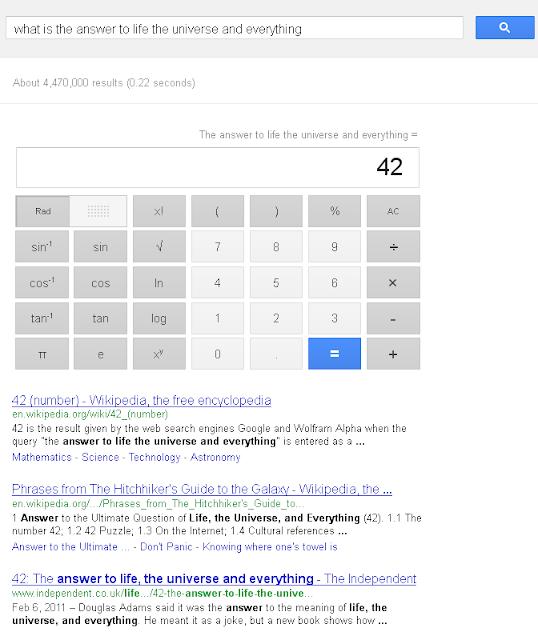 google Douglas Adams trick