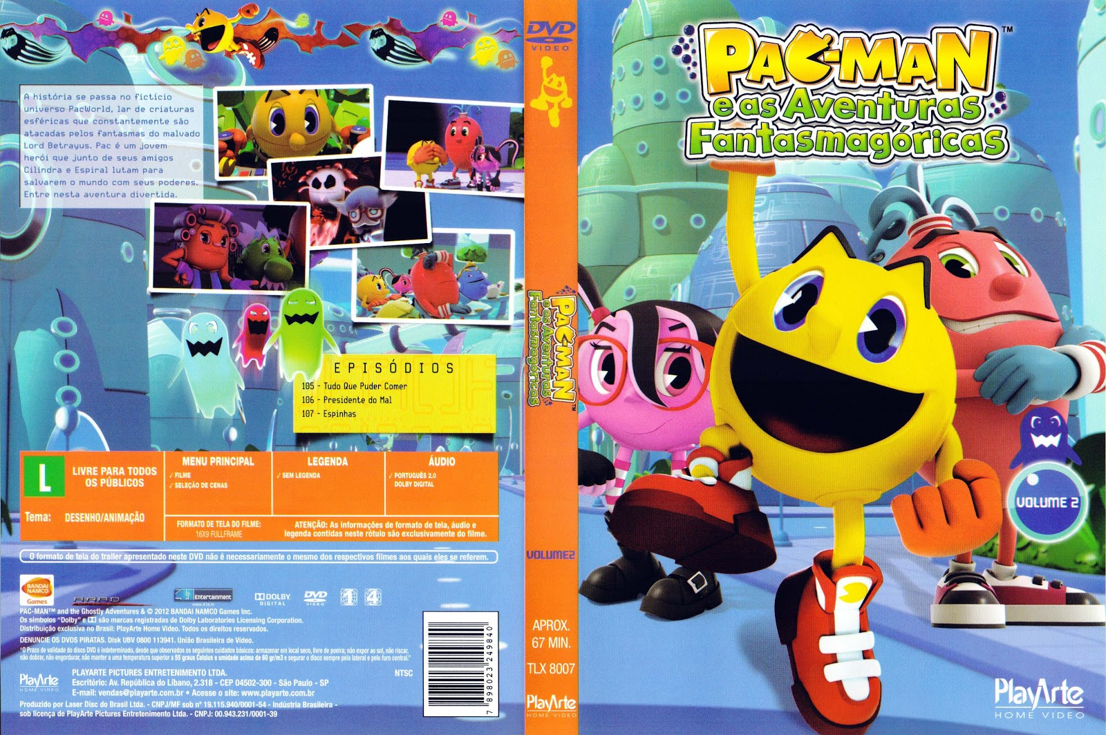 Capa Pac-Man E As Aventuras Fantasmagóricas