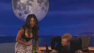 Nicole Scherzinger and her boobs visit conan nice cleavage