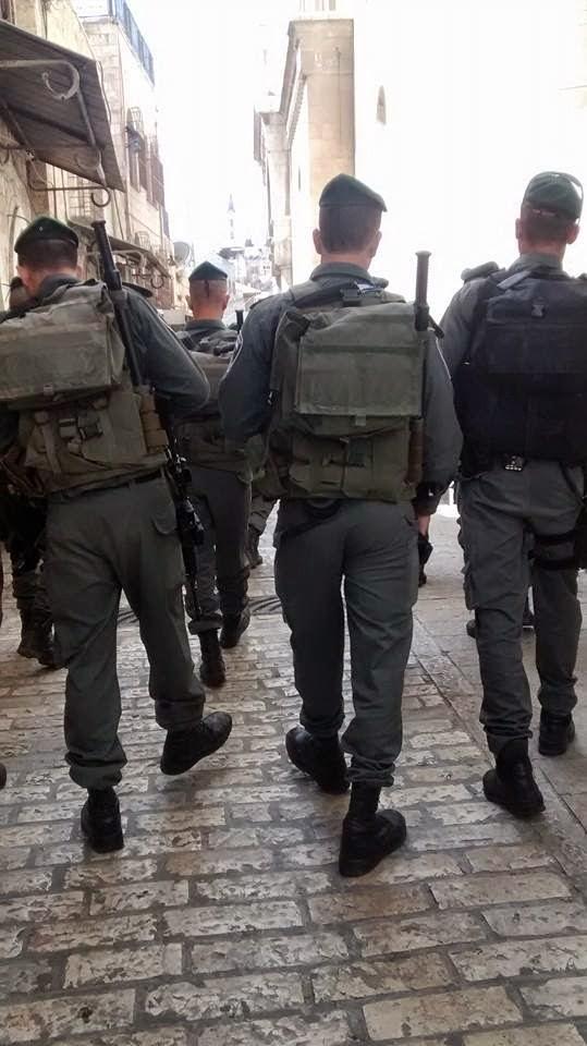 Tropas de ocupação israelense em Jerusalém