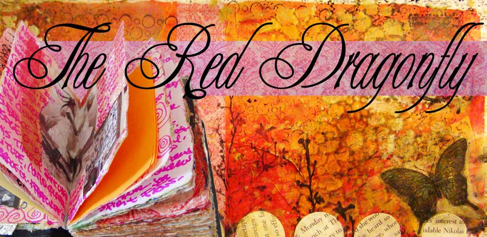 The Red Dragonfly - Art Journaling