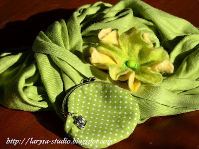 кошелек в зеленый горох шьем сами
