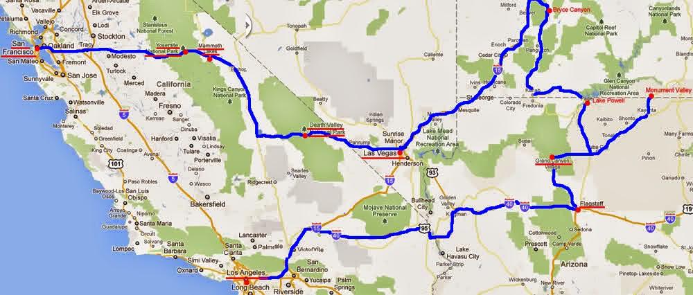 Viaggio in usa attraverso california nevada utah arizona for Cabine romantiche nel sud della california