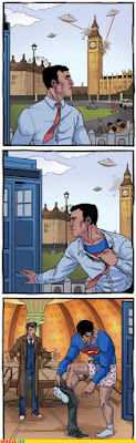 doctor who and superman alien attack meet in london