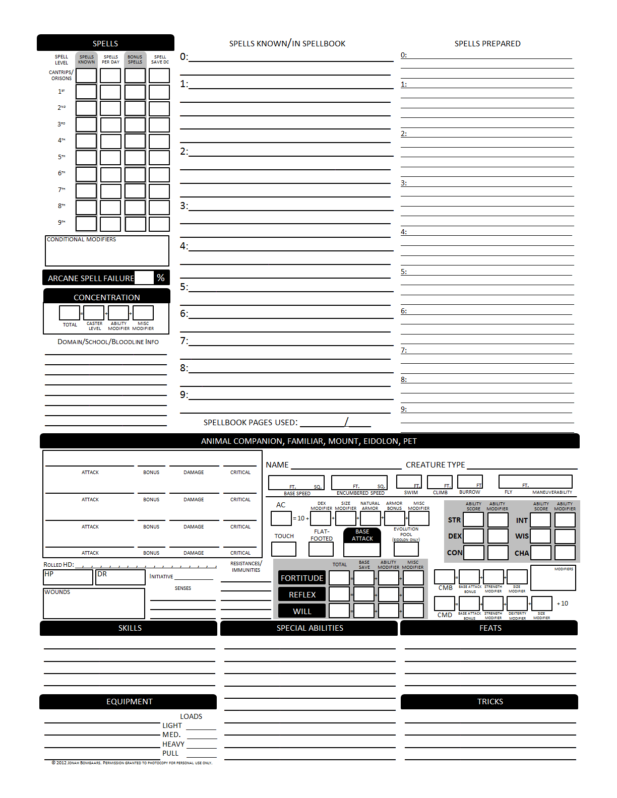 photograph about Pathfinder Character Sheet Printable called d20 Despot: Better Individuality Sheet v2.0