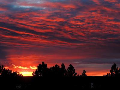 Sunset over Fort Peck Reservoir