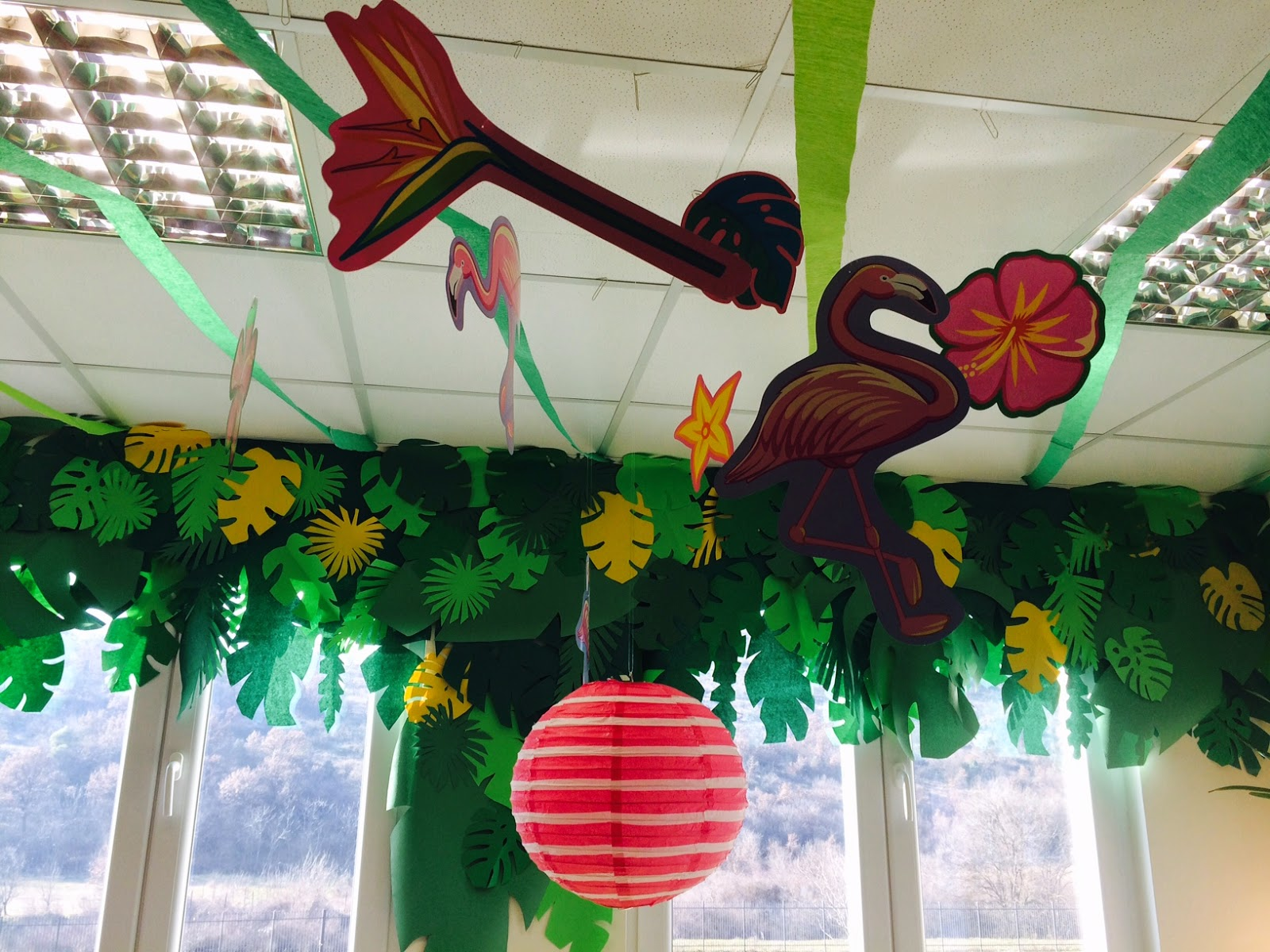 Fall Classroom Ceiling Decorations ~ The charming classroom island jungle theme