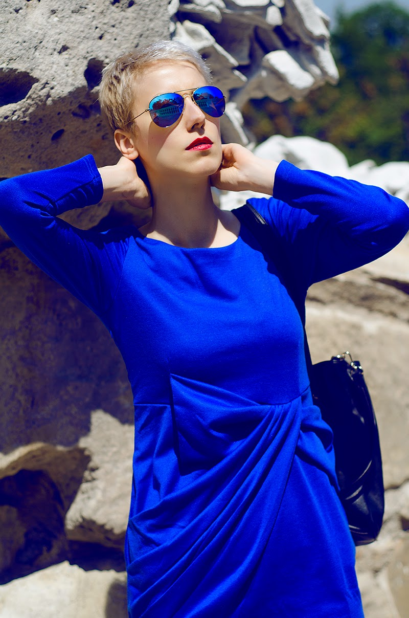 blue wrap dress beeswonderland