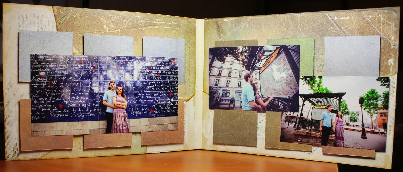 Универсальный альбом Париж Love Story 3 разворот