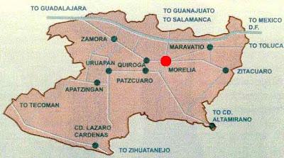 Mapa de Morelia Político Región