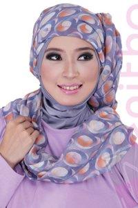 Zenitha Jilbab 04 - Orange (Toko Jilbab dan Busana Muslimah Terbaru)