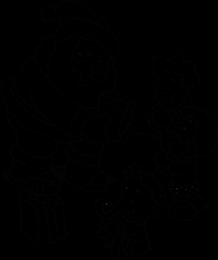 Santa Drawing For Kids