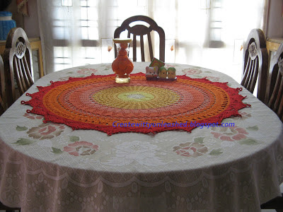 between meal centerpiece doily