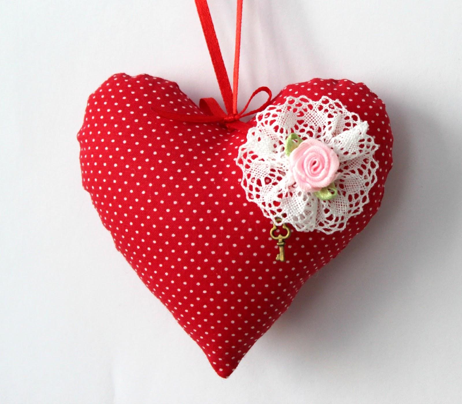 Сердечки из текстиля своими руками