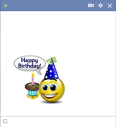 Happy birthday smiley facebook symbols and chat emoticons