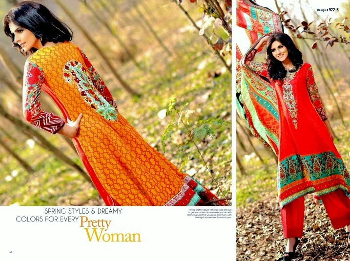 Printed Lawn 2014 Collection