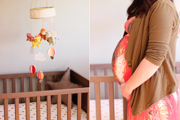 Beautiful baby girl nursery & expectant mama