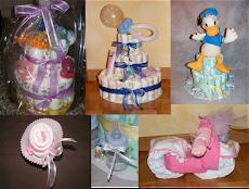 Prepariamo torte di pannolini personalizzate!!!                          Scriveteci!!!!!