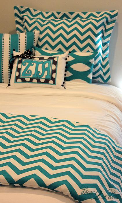 turquoise chevron bedding turquoise chevron designer
