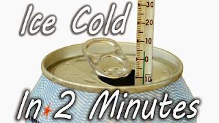 Πώς να παγώσετε ένα ζεστό αναψυκτικό σε 2 λεπτά…