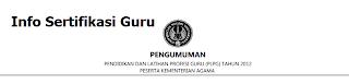 Hasil PLPG Kemenag 2012 Rayon 111 UNY