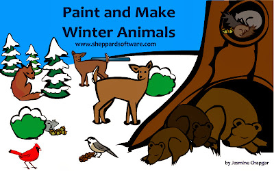 http://www.sheppardsoftware.com/scienceforkids/seasons/paintandmake/paintandmakewinteranimals.htm