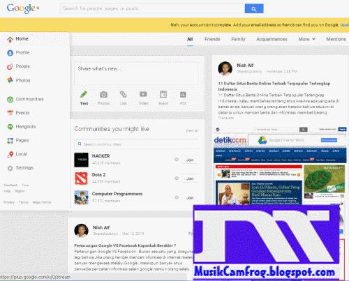 jejaring sosial Google plus