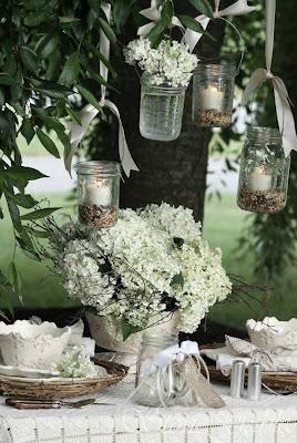 letnia dekoracja DIY słoiki świece Eco manufaktura