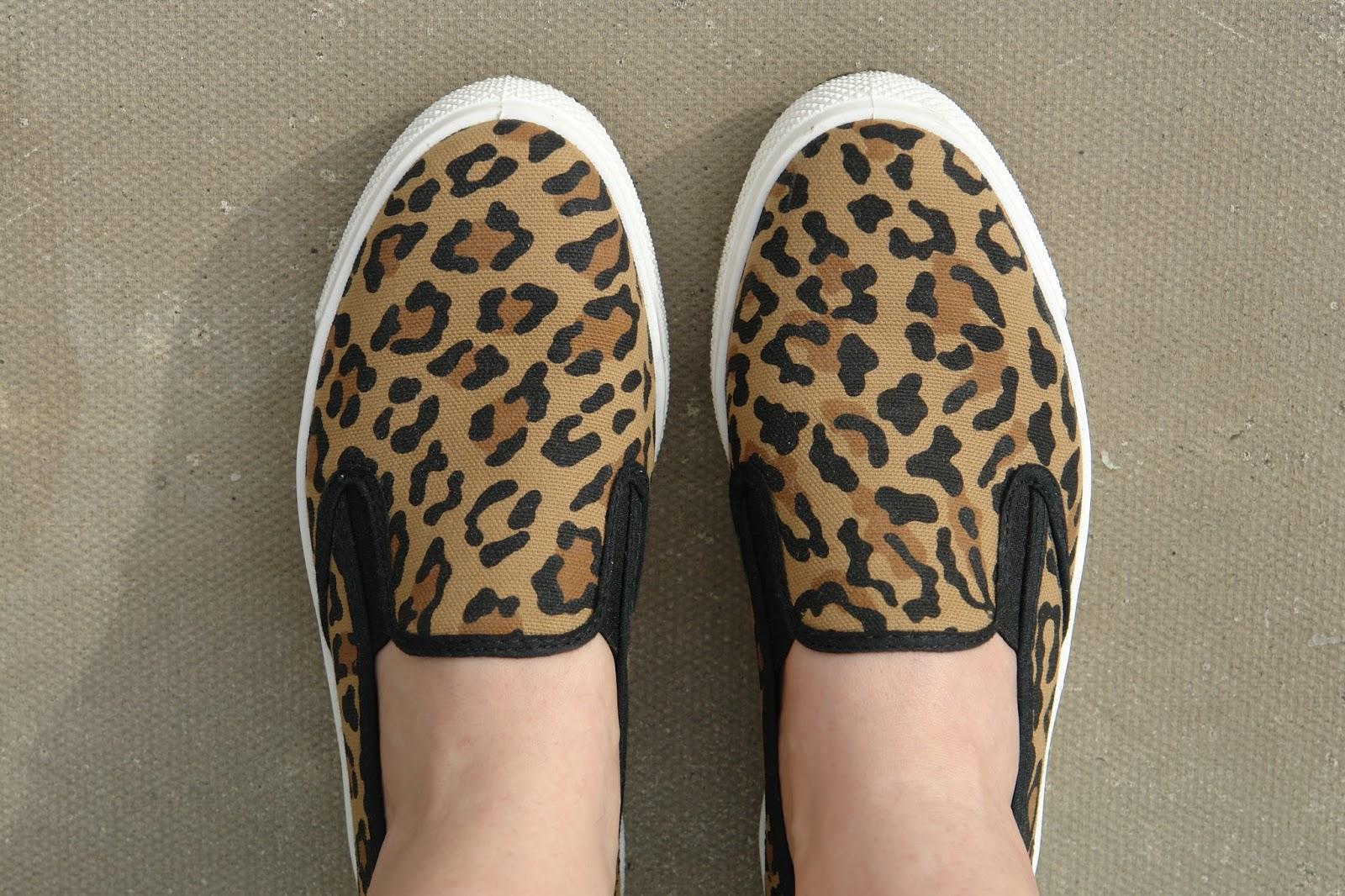ASOS leopard print slip-on shoes, ASOS Dockland plimsolls, leopard print, ASOS, leopard, shoes, 2014,