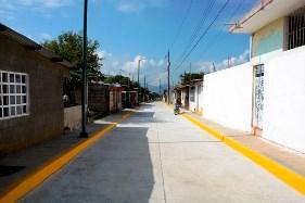 Pavimentación hidráulica y baños dignos en la Reserva Territorial
