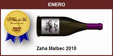 Enero - Zaha Malbec 2010