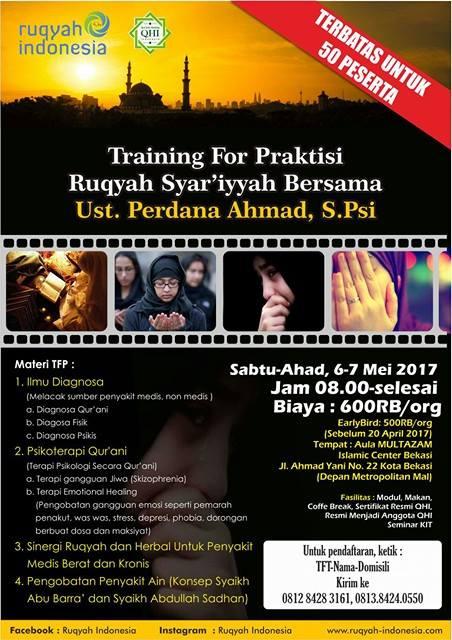 TRAINING RUQYAH UNTUK PRAKTISI