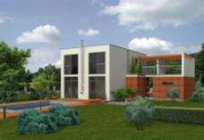 Mintaház: Villa_Juvente_100_09 | Habbeton házak