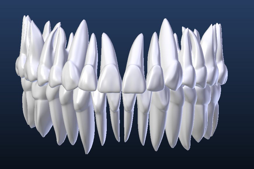 blender et osirix  simulation 3d  cao 3d  dents 3d