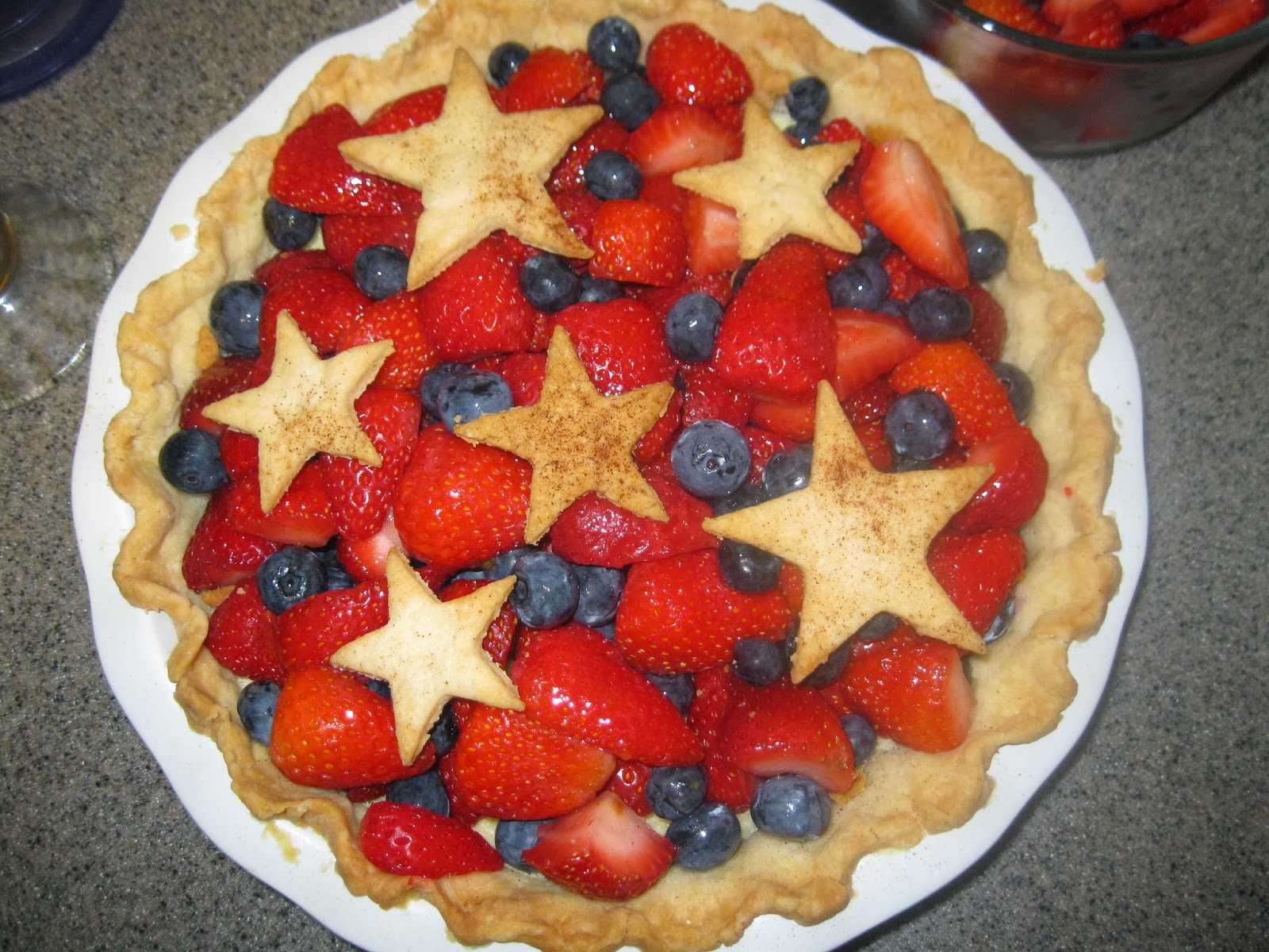 Fourth of July Strawberry and Blueberry Cheesecake Pinterest