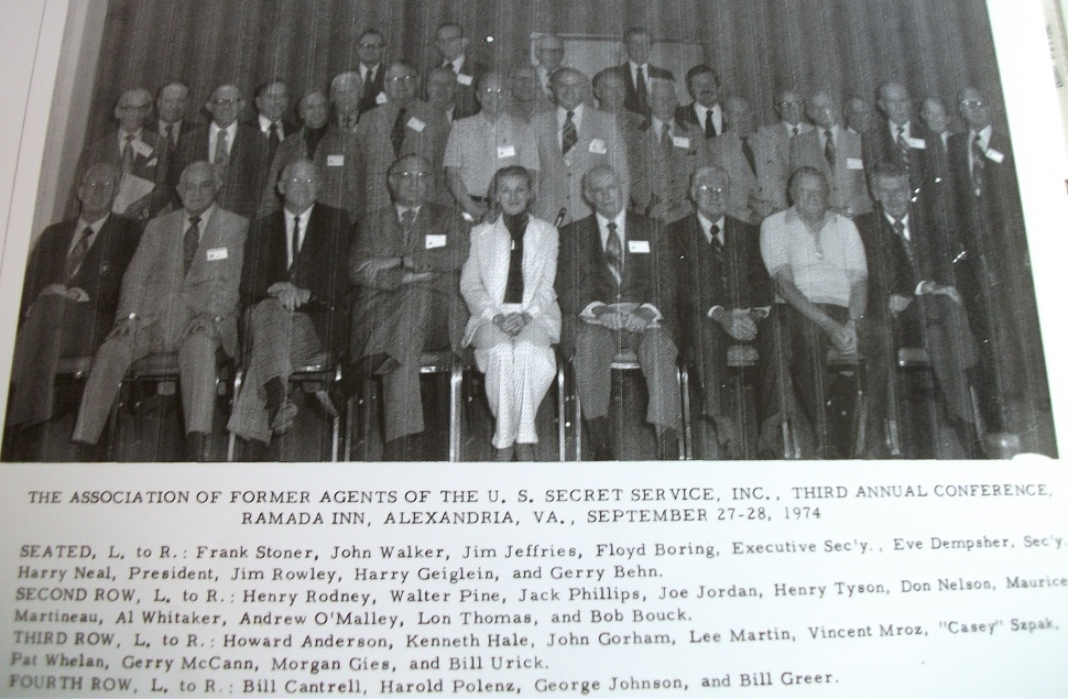 AFAUSSS: Former Secret Service Agent Association annual conference 1973--Behn, Rowley, Greer, etc