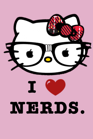 Be linspired iphone backgrounds hello kitty i love nerds iphone 4s or earlier voltagebd Images