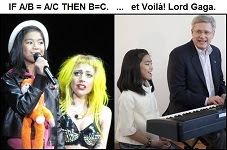 Stephen Harper is Lord Gaga.