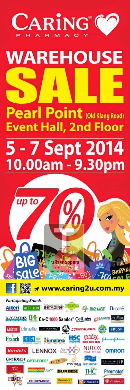 Caring Pharmacy malaysia Warehouse sale