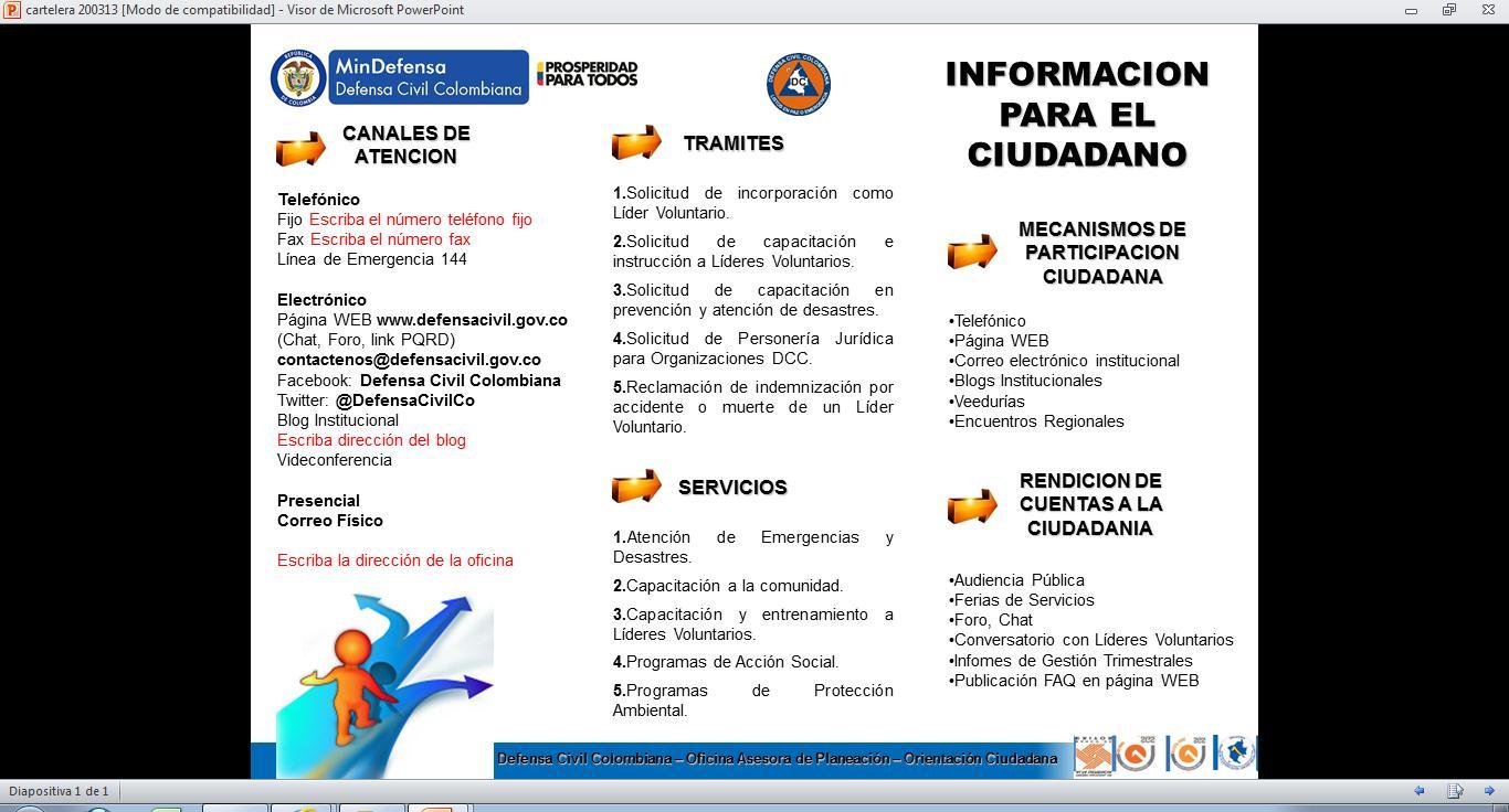 Defensa civil colombiana oficina operativa barrancabermeja for Oficina del ciudadano