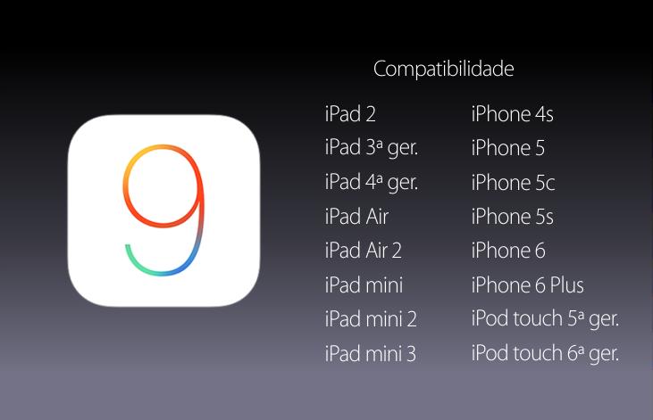 Compatibilidade do iOS 9