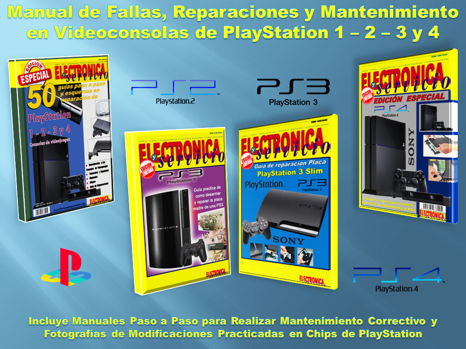 Manual Reparación Mantenimiento Videoconsolas Playstation